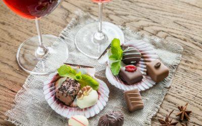 Wein trifft Schokolade